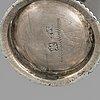 4 swedish silver beakers, 18th century.