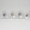 Glas, fyra stycken. tyskland, 1700-tal.