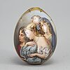 A russian easter egg, presumably the imperial porcelain manufactory, st petersburg, 19th century.