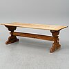 A 19th century vernacular pine table.
