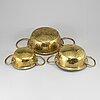 Durkslag / silar, 3 stycken, mässing, tidigt 1800-tal.