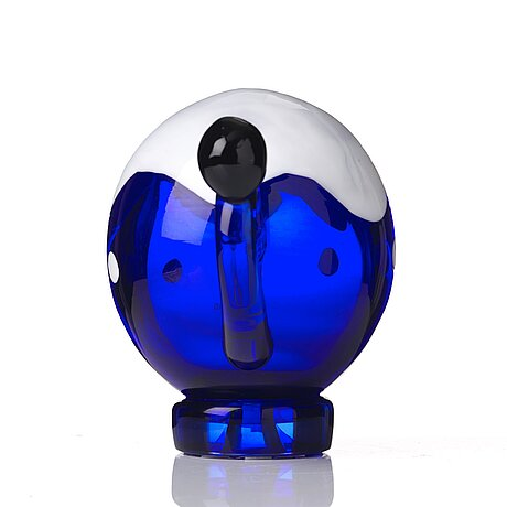 "Ernst billgren, a ""minnie"" glass sculpture, berengo studio, italy 2000, ed. 14/29."