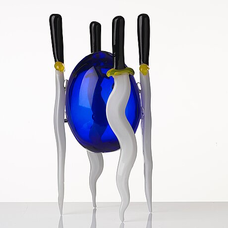 "Ernst billgren, a ""lena"" glass sculpture, berengo studio, italy, ed. 7/29."