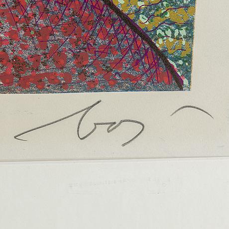 Enrico baj, silkscreen in colours, signed 45/250.