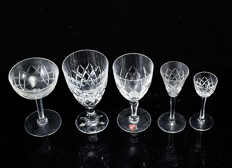 A part orrefors glass service, 20th century. (31 pieces).