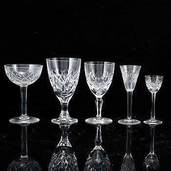 A part Orrefors glass service, 20th Century. (31 pieces).