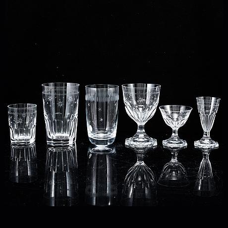 A part glass service, sweden, 20th century. (34 pieces).
