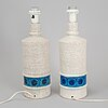 Pair of table lamps, stoneware, bitossi, 1960/70s.