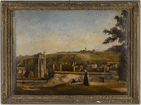 Émile bernard, oil on paper panel, signed Émile bernard.