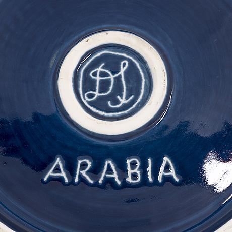 """Dorrit von fieandt, dekorationsfat, """"jungfrun"""", ur serien horoskop, signerad df arabia. 1993-1997."""