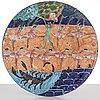 """Dorrit von fieandt, koristevati, """"skorpioni"""", sarjasta horoskooppi signeerattu df arabia. 1993-1997."""