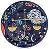 "Dorrit von fieandt, dekorationsfat, ""vågen"", ur serien horoskop, signerad df arabia. 1993-1997."