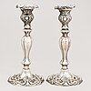 A pair of silver candlesticks, stockholm 1861.