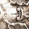 Ljusstakar, ett par, silver, stockholm 1861.