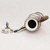 A swedish empire style silver coffee pot, mark of gustaf focker, stockholm, 1834.