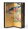 A japanese eight panel screen, meiji period (1868-1912).