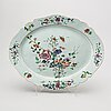 A chinese qianlong famille rose porcelain plate.