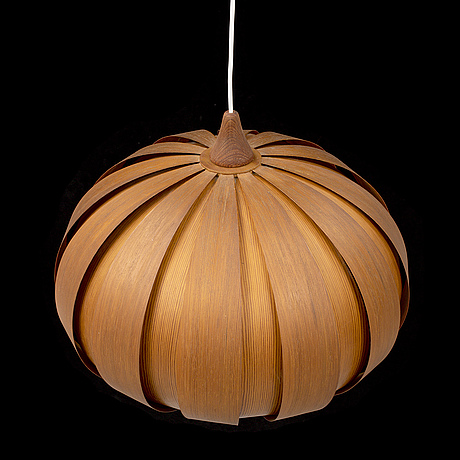 A pine ceiling light, 1960's/70's.