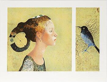 DORINA MOCAN, färglitografi, signerad och numrerad 84/200.