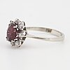 Red spinel and eight-cut diamond ring.