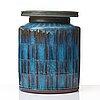 "Wilhelm kåge, a ""farsta"" stoneware jar, gustavsberg studio, sweden 1959."