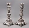 Ljusstakar, ett par, silver, nyrokoko, österrike, omkring 1900.