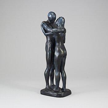 GUDMAR OLOVSON, sculpture, patinated plaster. Signed.