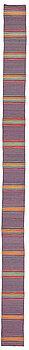 "1014. Jenny Mäkinen, A runner, ""Jenny"", a rag rug, ca 1120,5 x 71,5-74 cm, Finland the beginning of the 1970's."