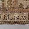 A drape, flat weave, ca 206 x 136 cm, signed and dated bl 1925?.