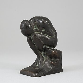HALVAR FRISENDAHL, sculpture, bronze, signed and with foundry mark.