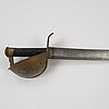 A imperial german navy cutlass with scabbard.