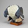 Gunnar nylund, a stoneware sculpture of a grouse, rörstrand, sweden.