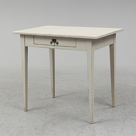 A painted gustavian style table, circa 1900.