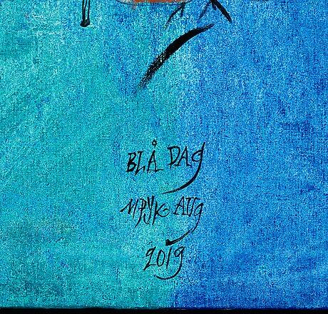 "Madeleine pyk, ""blå dag""."