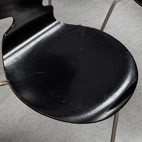 Eight 'ant' chairs by arne jacobsen for fritz hansen.
