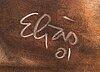 Theis eljas, pastel signed.