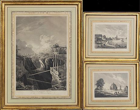 3 prints by johan fredrik martin,