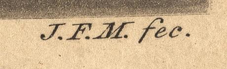 Johan fredrik martin, efter etsningar, 3 st.