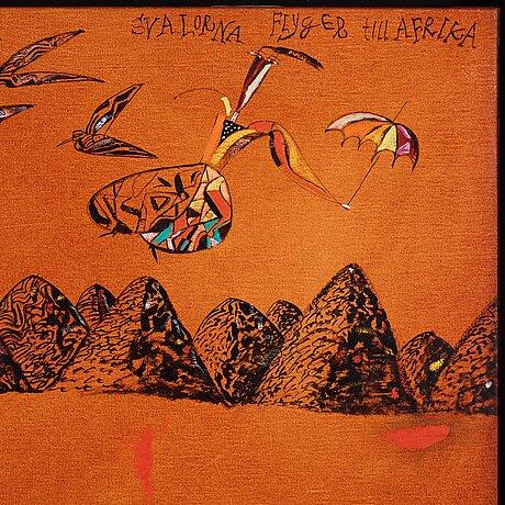 "Madeleine pyk, ""svalorna flyger till afrika""."