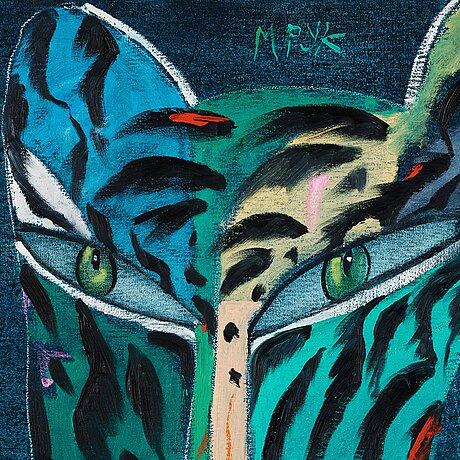 Madeleine pyk, blå tiger.