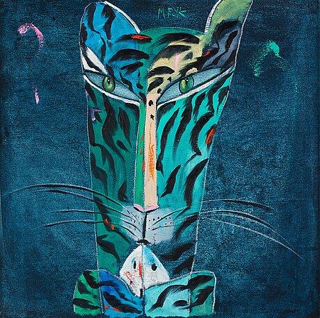 Madeleine pyk, blue tiger.