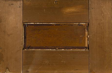 Johan knutson, oil on board, signed.