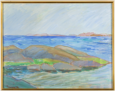 Ragnvald magnusson, oil on canvas, signed.