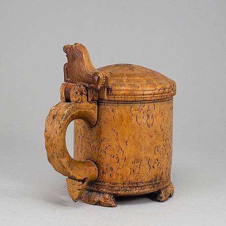 Tankard, probably norway, ca 1800.