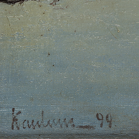 Unknown artist, 19th century, oil on canvas, signed and dated -99.