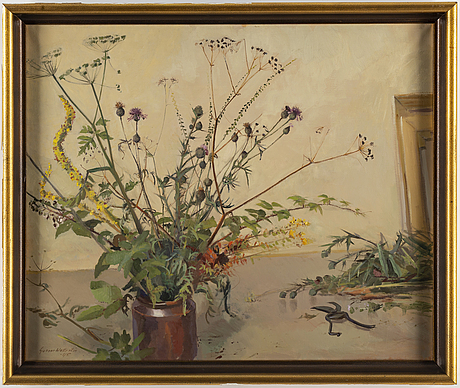 Gunnar wallentin, oil on canvas, signed and dated -45.