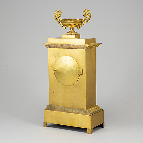 A first half of the 20th century bronze mantle clock.