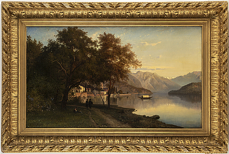 Edvard bergh, oil on canvas/panel, signed and dated 1871.