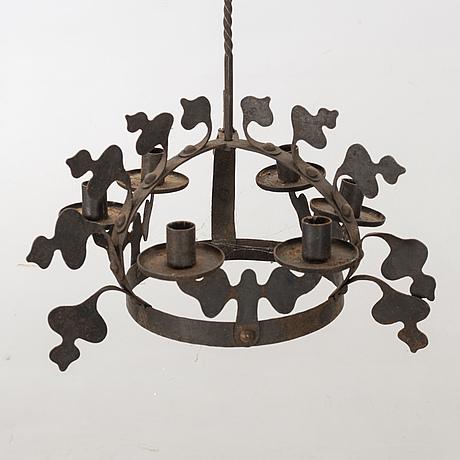 Ljuskrona  smide 1900-talets början.