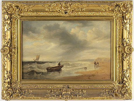 James wilson carmichael, loil on canvas, signed and dated 1840.